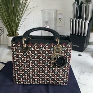 NWT 💯 Authentic Women Lady Dior Multi Color